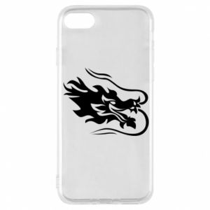 Phone case for iPhone 8 Dragon with fire