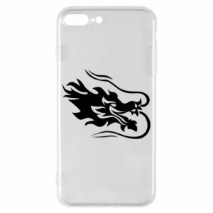 Phone case for iPhone 8 Plus Dragon with fire