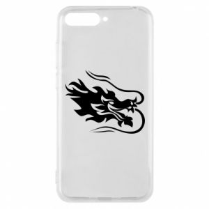 Phone case for Huawei Y6 2018 Dragon with fire