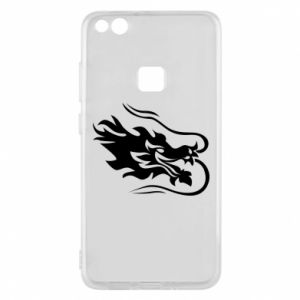 Phone case for Huawei P10 Lite Dragon with fire