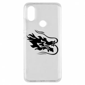 Phone case for Xiaomi Mi A2 Dragon with fire