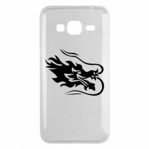Phone case for Samsung J3 2016 Dragon with fire