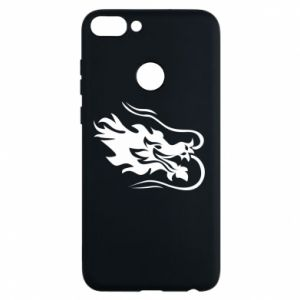 Phone case for Huawei P Smart Dragon with fire