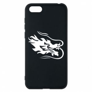 Phone case for Huawei Y5 2018 Dragon with fire