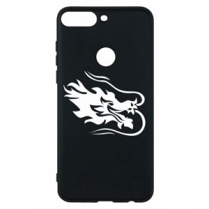 Phone case for Huawei Y7 Prime 2018 Dragon with fire