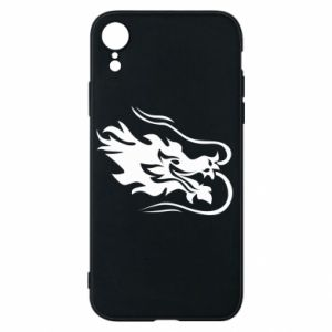 Phone case for iPhone XR Dragon with fire