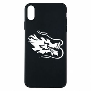Phone case for iPhone Xs Max Dragon with fire