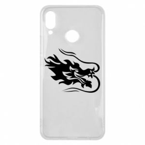 Phone case for Huawei P Smart Plus Dragon with fire