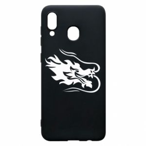 Phone case for Samsung A20 Dragon with fire