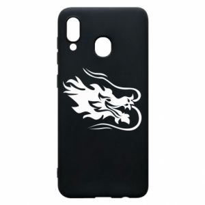 Phone case for Samsung A30 Dragon with fire