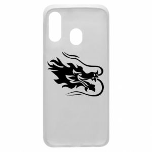 Phone case for Samsung A40 Dragon with fire