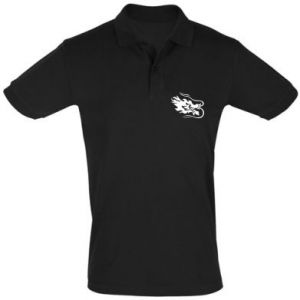 Men's Polo shirt Dragon with fire