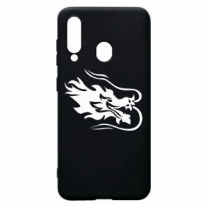 Phone case for Samsung A60 Dragon with fire