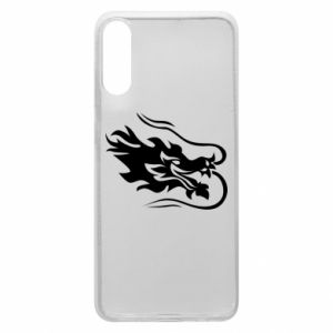 Phone case for Samsung A70 Dragon with fire