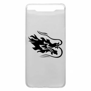 Phone case for Samsung A80 Dragon with fire