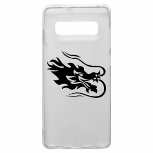 Phone case for Samsung S10+ Dragon with fire