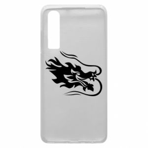 Phone case for Huawei P30 Dragon with fire