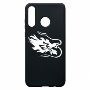 Phone case for Huawei P30 Lite Dragon with fire