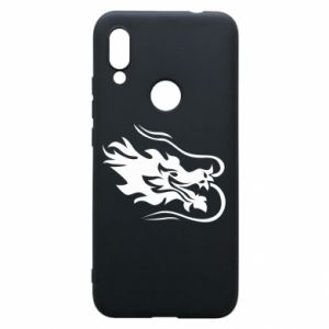 Phone case for Xiaomi Redmi 7 Dragon with fire
