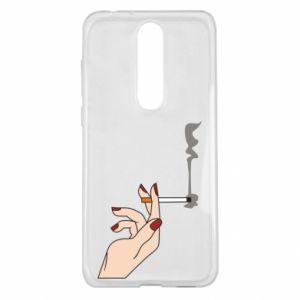 Etui na Nokia 5.1 Plus Smoking hand