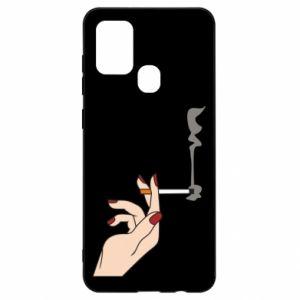 Etui na Samsung A21s Smoking hand