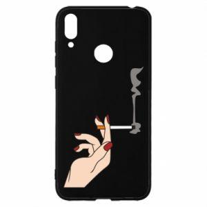 Etui na Huawei Y7 2019 Smoking hand