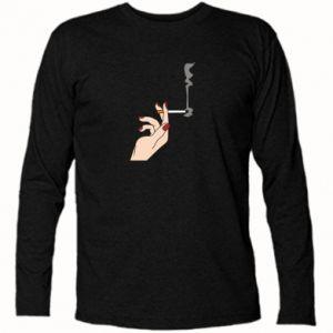 Koszulka z długim rękawem Smoking hand