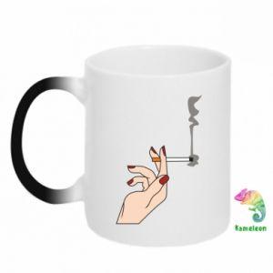 Kubek-magiczny Smoking hand