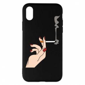 Etui na iPhone X/Xs Smoking hand