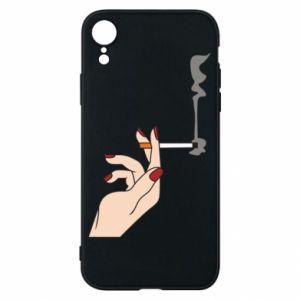 Etui na iPhone XR Smoking hand