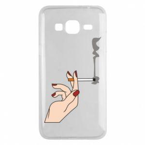 Etui na Samsung J3 2016 Smoking hand