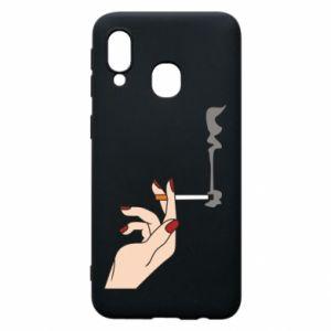 Etui na Samsung A40 Smoking hand