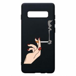 Etui na Samsung S10+ Smoking hand