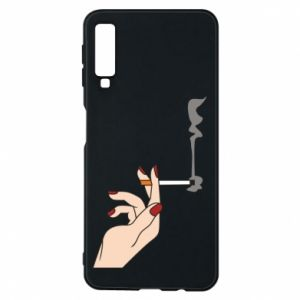 Etui na Samsung A7 2018 Smoking hand