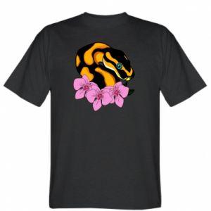T-shirt Snake in flowers