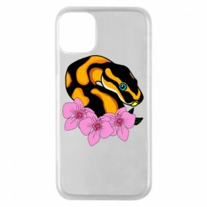 Etui na iPhone 11 Pro Snake in flowers