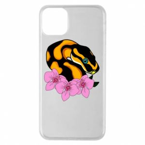 Etui na iPhone 11 Pro Max Snake in flowers