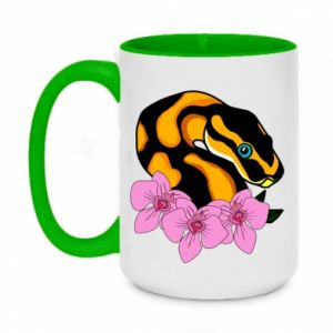 Kubek dwukolorowy 450ml Snake in flowers