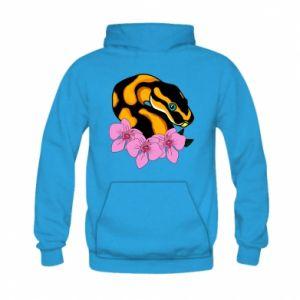 Bluza z kapturem dziecięca Snake in flowers