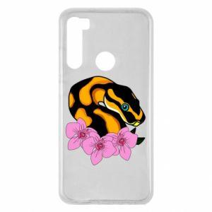 Etui na Xiaomi Redmi Note 8 Snake in flowers