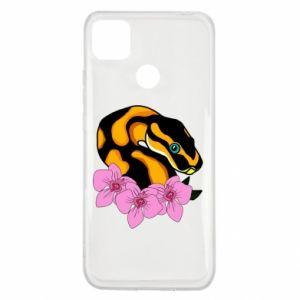 Etui na Xiaomi Redmi 9c Snake in flowers