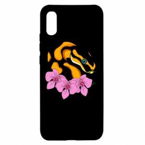 Etui na Xiaomi Redmi 9a Snake in flowers