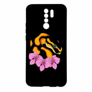 Etui na Xiaomi Redmi 9 Snake in flowers