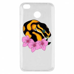 Etui na Xiaomi Redmi 4X Snake in flowers