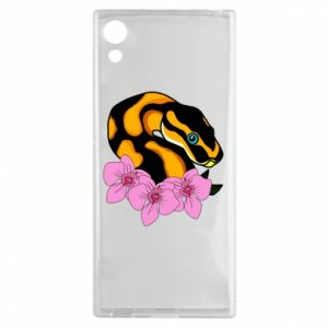 Etui na Sony Xperia XA1 Snake in flowers