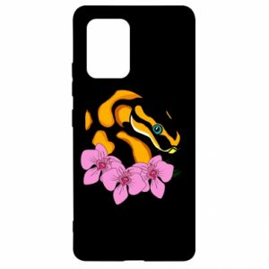 Etui na Samsung S10 Lite Snake in flowers
