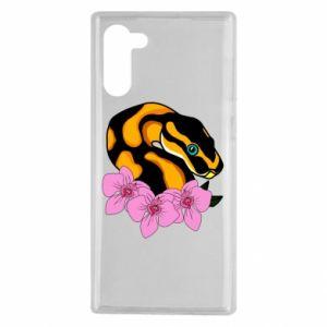 Etui na Samsung Note 10 Snake in flowers