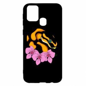 Etui na Samsung M31 Snake in flowers