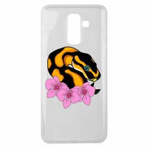 Etui na Samsung J8 2018 Snake in flowers