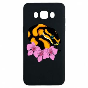 Etui na Samsung J7 2016 Snake in flowers